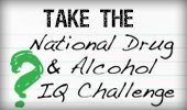 Take the National Drug & Alcohol IQ Challenge Pic